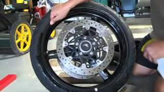 How to change your motorcycle tire without a tire machine