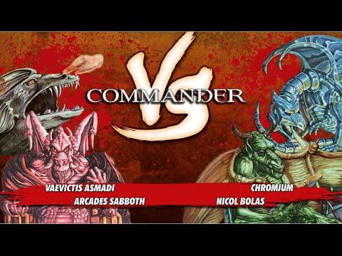 EDH VS S1E3: Vaevictis v. Nicol Bolas v. Arcades v. Chromium [MTG Multiplayer]
