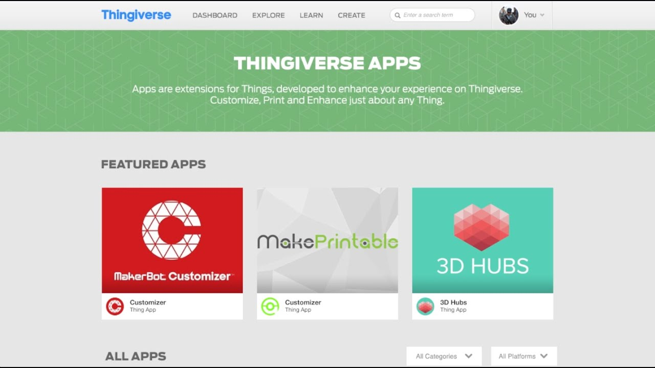 Thing Apps Now Available on Thingiverse