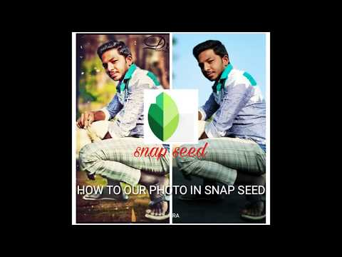 How To Edit Our Photo In Snap Seed In Our Mobile App Available In Play Store Link In Description