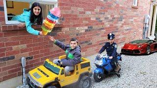 محرك الآيس كريم من خلال متجر الألعاب على عجلات كهربائية ركوب السيارات للأطفال Heidi و Zidane
