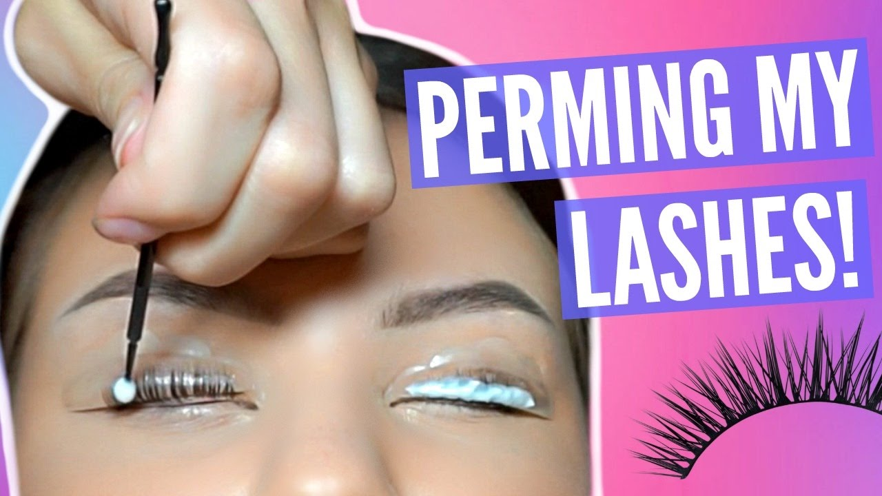 Getting My Eyelashes Permed Vlog Review Youtube