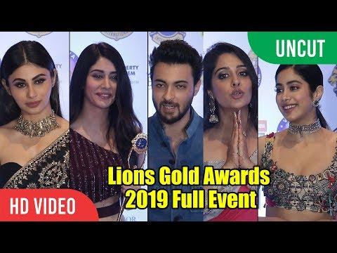 Lions Gold Awards 2019 | Full Event | Aayush Sharma, Warina, Dipika, Jhanvi, Mouni Roy