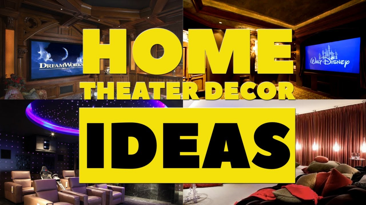 5 Home Theater Décor Ideas - YouTube