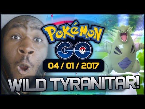 """""""A WILD FREAKING TYRANITAR!?"""" [Pokemon GO Vlog - 4/1/17] [Philadelphia]"""
