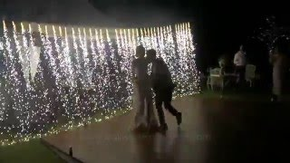 First Dance | Waterfall Pyrotechnics Fireworks | Wedding party in Bali | Bali Wedding Butler
