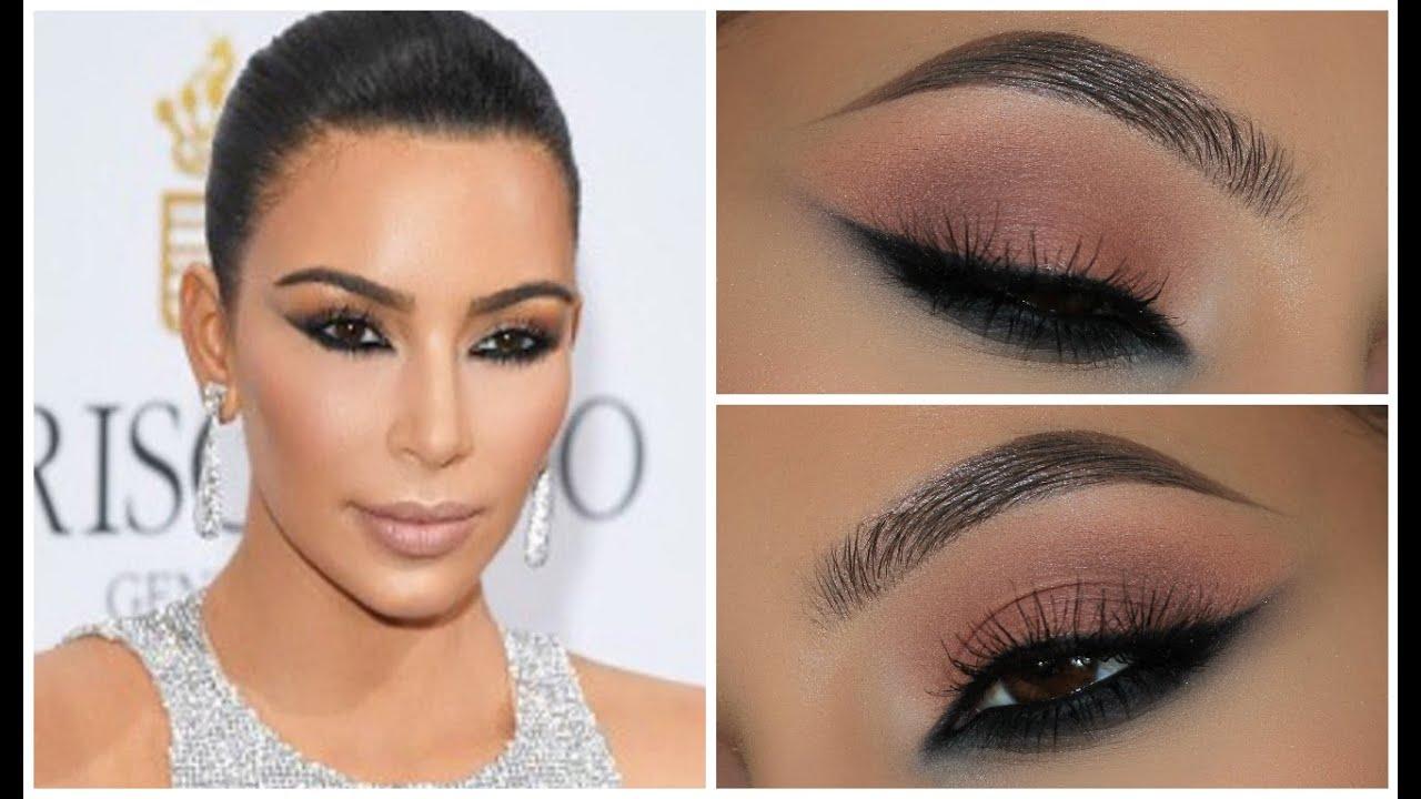 Kim Kardashian Smokey Eyes Tutorial  YouTube