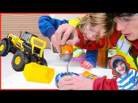 Toy Truck Front Loader Gets Fixed Up! | Tonka Steel