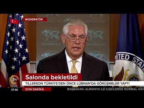 ABD Dışişleri Bakanı Tillerson'ı Lübnan'da kimse karşılamadı