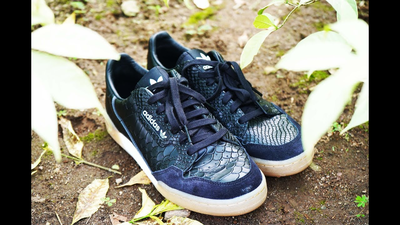 on sale 3963e eb7b7 THE BEST ADIDAS CONTINENTAL 80 THIS 2018  SNAKE SKIN SNEAKER!!