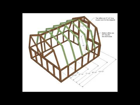 How to Build a Greenhouse Cheap with Wood - Part 1