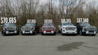 5 2019 GMC SIERRA DENALI'S, 3 different prices... Why?
