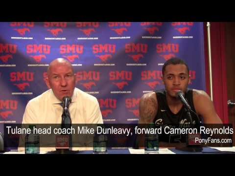 Tulane head coach Mike Dunleavy, forward Cameron Reynolds