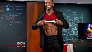 Actor, author Christian Keyes shows off his abs