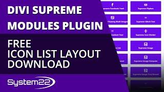 Divi Supreme Modules Free Icon List Layout Download 👍