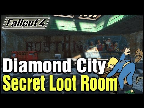 Fallout 4: Diamond City Secret Loot Room Location!