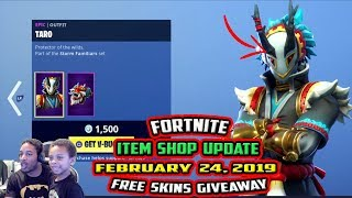 FORTNITE ITEM SHOP UPDATE *EPIC* TARO, AND NARA SKIN - FEBRUARY 24, 2019