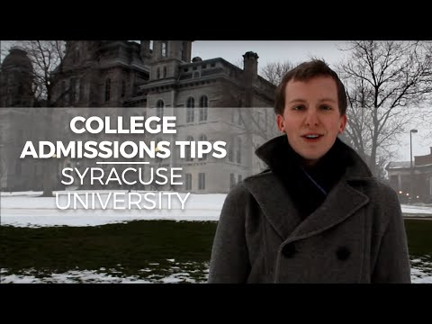College Admissions Tips at Syracuse University