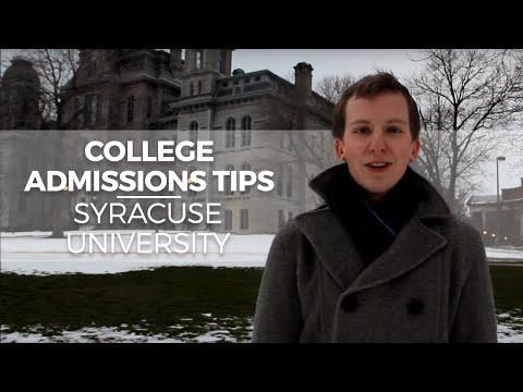 Видео Syracuse university application essay questions