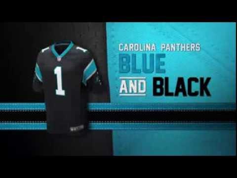 sports shoes 35257 cc777 Carolina Panthers uniform and uniform color history