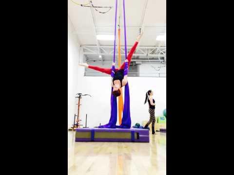 Aerial Silks Practice 03/05/2015 (Meat Hook)