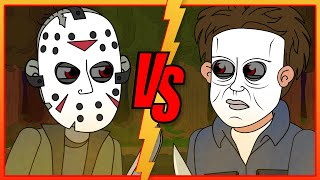 Halloween vs Friday the 13th: Michael Myers vs Jason Voorhees (Parody Animation)