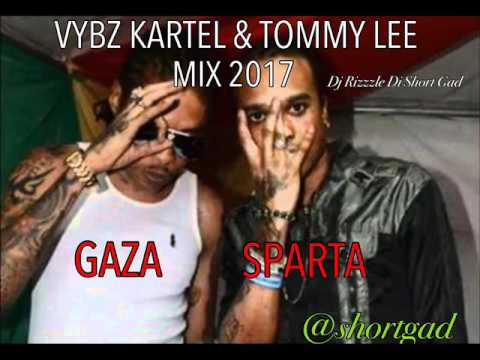 Vybz Kartel & Tommy Lee  Gaza Sparta (Dancehall  Mix 2017) Dj Rizzzle Di Short Gad