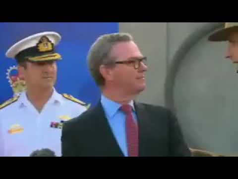 Australian Army Chief interrupts his Defence Minister in full public view