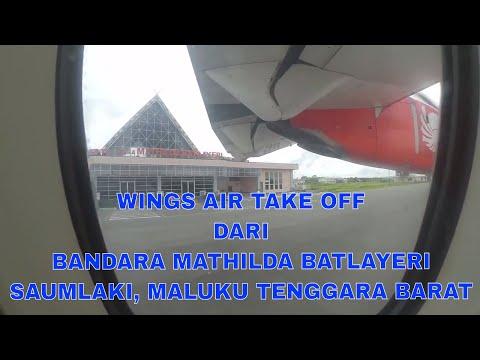 TAKE OFF SAUMLAKI Ke AMBON, INDONESIA Dengan WINGS AIR IW 1517 ATR 72-500 / Maret 2018