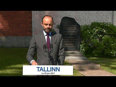L\u0027émotion du Premier ministre évoquant la mort du père de Simone Veil en  Estonie