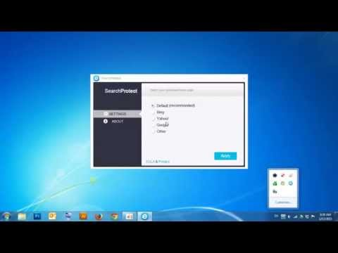 Remove Search Protect on Windows7