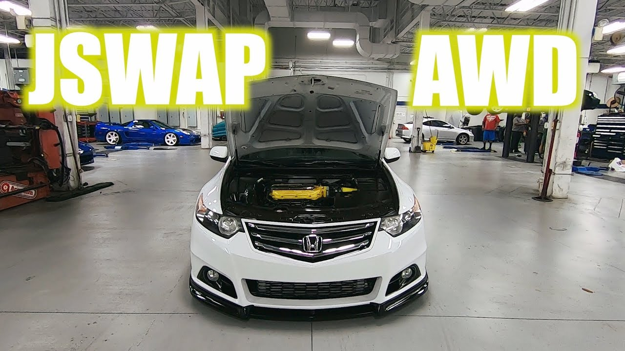 "Acura Honda Classic TSX Wagon Worldsfirst V6 AWD 6 speed Swap ""Episode 7"""