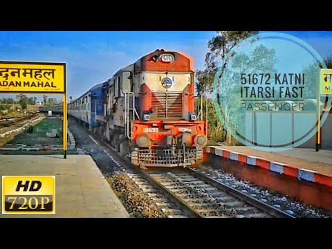 Itarsi WDM-3A Aggressively Enters Madan Mahal | 51672 KTE-ET Fast Passenger | INDIAN RAILWAYS |