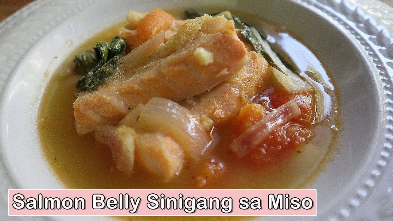 Sinigang Sa Miso Na Salmon Belly Cooking Episode 5 Youtube