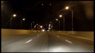 Bronx Whitestone Bridge southbound (Night)