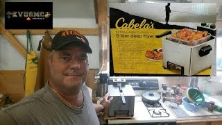 Cabela's Pro Series Five Liter Deep Fryer Unboxing and Review By KVUSMC