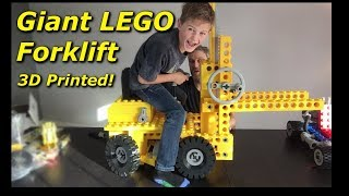 Giant LEGO Forklift Assembly [kit 850] - Mantis Hacks E9