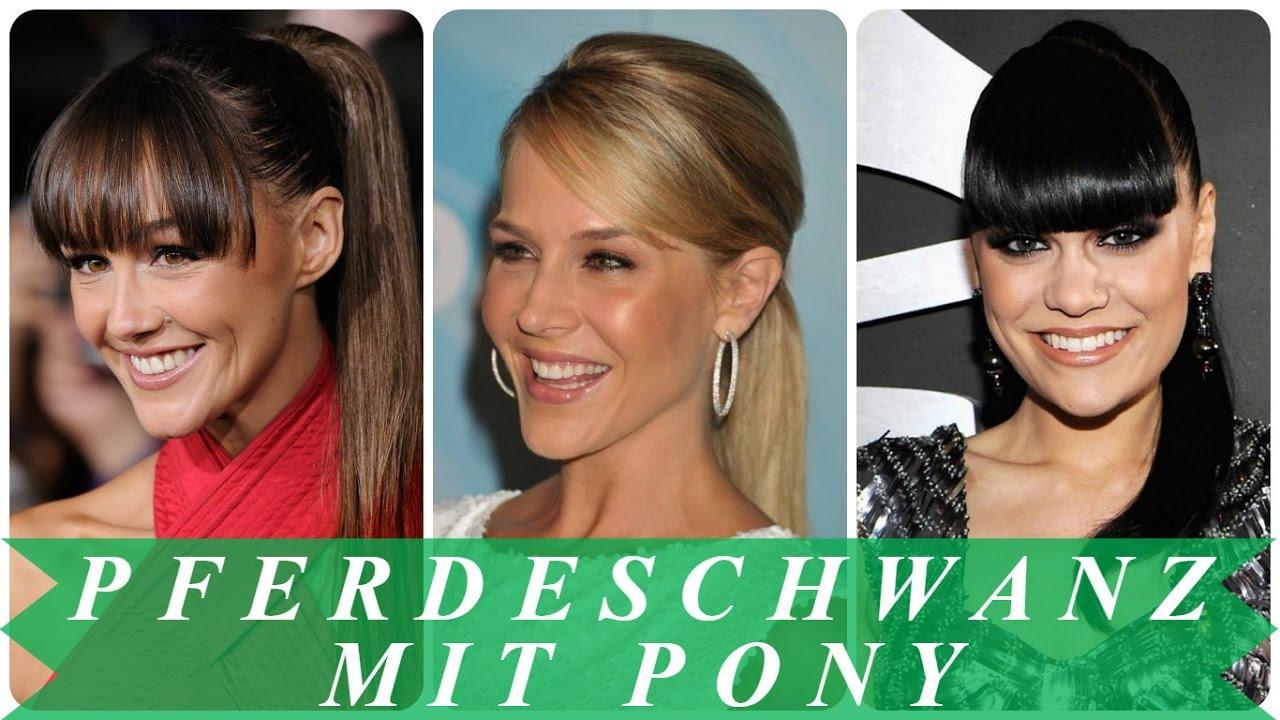 Pferdeschwanz Mit Pony