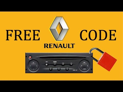 Renault Radio Code | Do It Yourself - YouTube