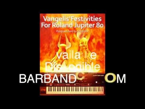 """""""Vangelis'Festivities"""" Sound Bank/Sound Set for the Roland Jupiter 80, synthesizer demo live. SVD."""
