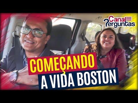 Família começando a vida em Boston, Massachusetts, EUA ✔