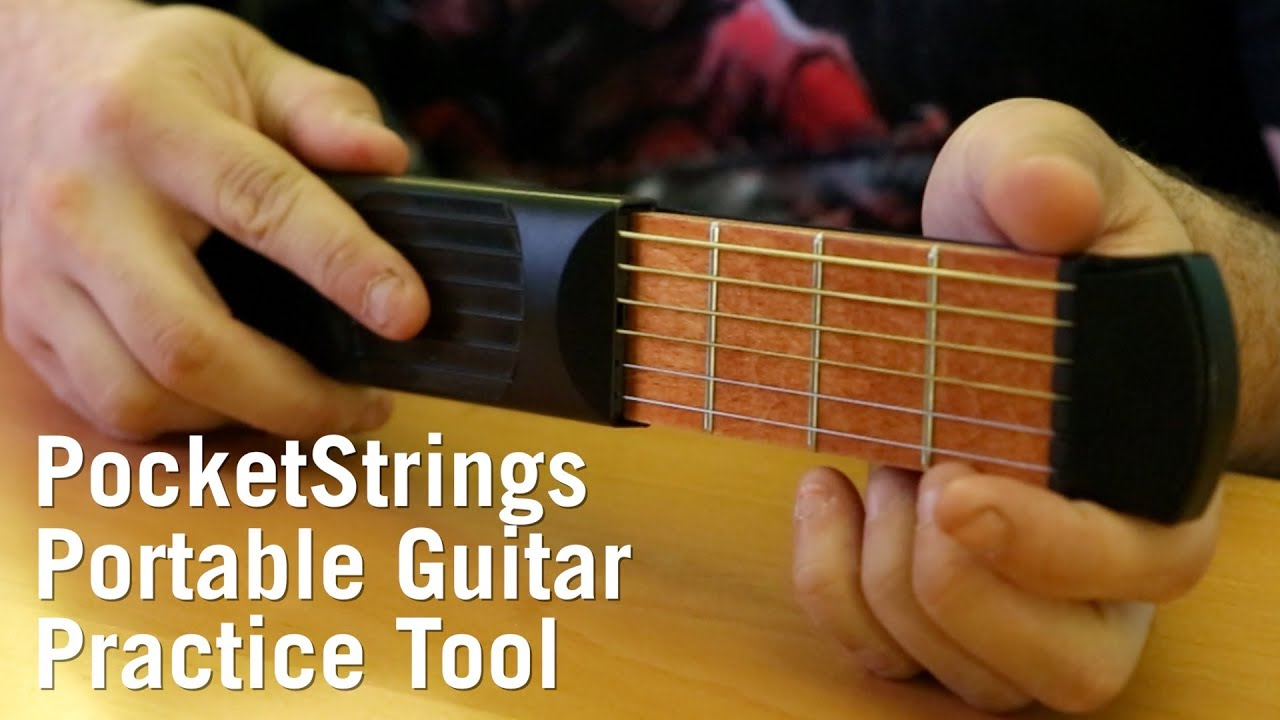 Pocketstrings Portable Guitar Practice Tool From Thinkgeek Youtube