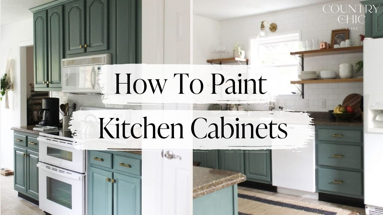 how to paint and glaze kitchen cabinets with country chic paint rh youtube com