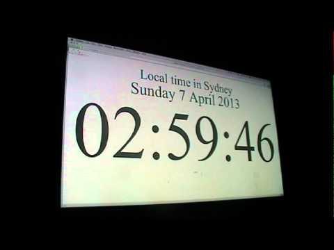 End of Daylight Savings Time in Sydney, Australia