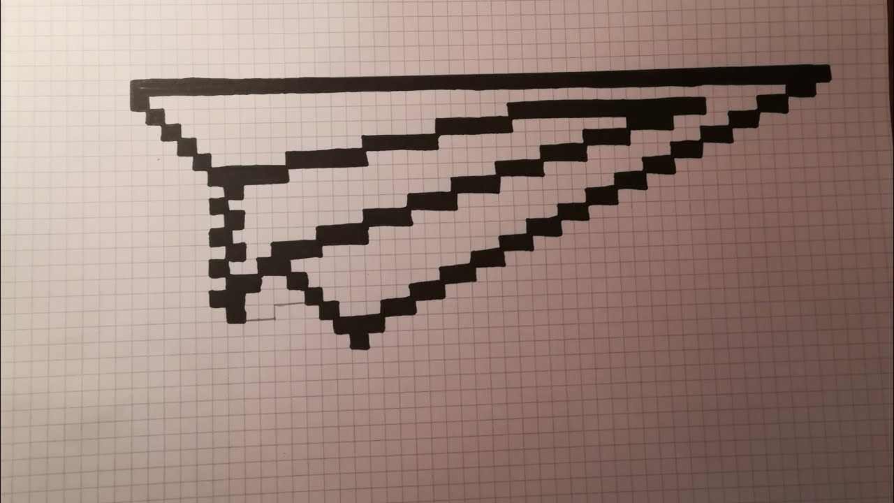 Pixel Art Avion En Papier