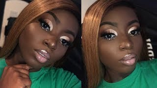 GRWM Nude Cut Crease With A Pop Ft. New Star Hair | Young Africana