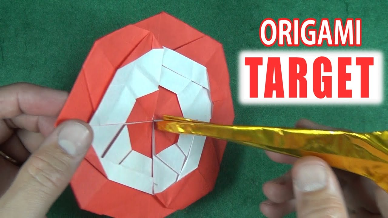 origami target by jeremy shafer youtube