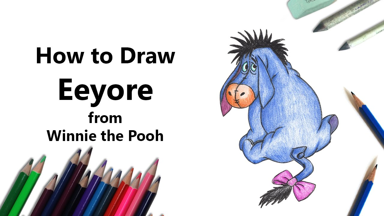 how to draw eeyore part 2 by sketchheroes baby tigger coloring