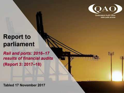 Rail and ports: 2016–17 results of financial audits