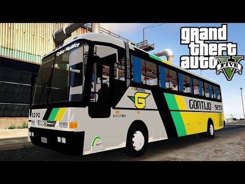 GTA 5: Mod Bus - Ônibus Urbano GONTIJO (São Paulo) Roubaram meu Ônibus